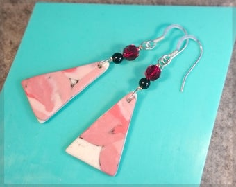 no.206 Porcelain Earrings - Statement Wedge earrings