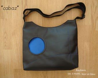 Handbag, Bauhaus, black and blue.