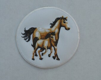 embroidered with horse