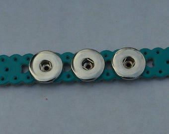 chunk turquoise leather bracelet