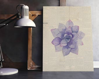 Single Flower Print | Purple Bouquet Art, Floral Bouquet Print, Single Flower Art, Floral Newspaper, Newspaper Wall Art, Flower Newspaper