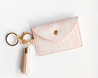 Hand Painted Pastel Pink Coin Purse