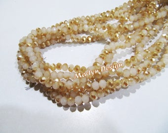 Mystic Coated Peach Moonstone Hydro Quartz Beads,6mm Rondelle Faceted Beads,Titanium Coated Beads, Strand 18 Inch Long, 100 Beads Per Strand