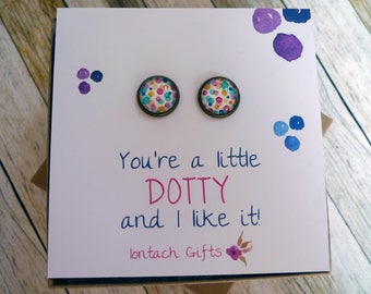 You're a little dotty, and I like it! Bronze Post Earrings