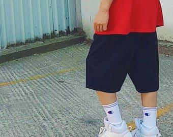 Ringspun Cotton Sweat Shorts Navy