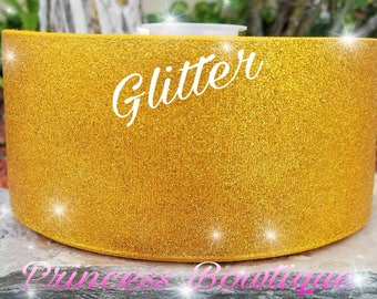 Gold glitter ribbon, glitter ribbon,  ribbon, gold ribbon