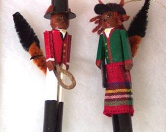 Mr. & Mrs. Fox Hunt Ornaments