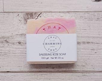 Darjeeling Rose Soap - Tea Soap - Sweet Soap - Flower Soap - Vegan Soap - Cruelty Free Soap - Cold Process Soap - Soap - Sensitive Skin Soap