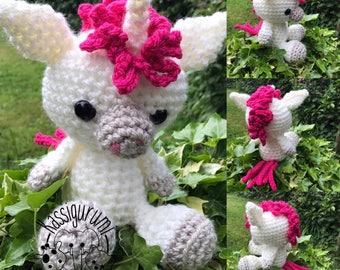 Leila the unicorn medium amigurumi