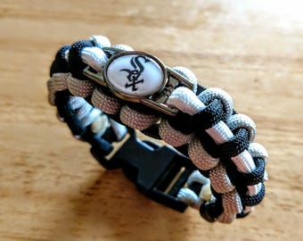 Chicago White Sox Inspired Paracord Bracelet