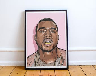 Kanye West art - The life of Pablo ( Print / Poster )
