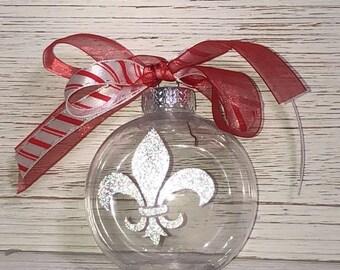Personalized Fleur de Lis ornament