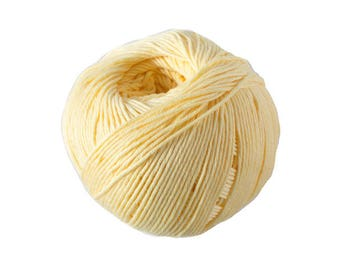 Cotton knit or crochet Natura No. 83 wheat