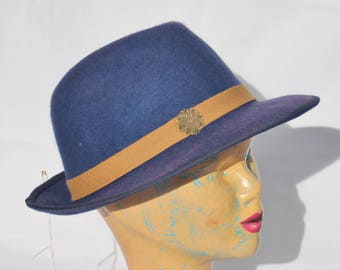 "felt hats type ""Fedora"" blue, several colors available"