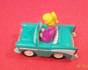 1991 Archie Comics Betty in Blue Chevy Friction Car Burger King Fast Food Toy -  Great Birthday Cake Topper