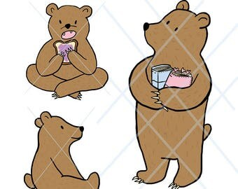 Böff the Bear die cuts, digital download!