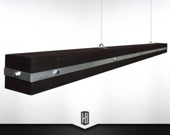 Heavy metal pendant lamp made of 100cm solid wood