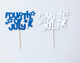 Fourth of July Topper,Fourth of July Party,Fourth of July Picks,4th of July Party,4th of July Topper,4th of July Picks,independence day