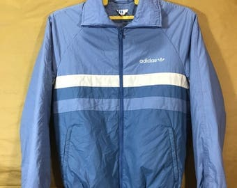 80s Vintage ADIDAS TREFOIL Insulate Track Jacket Made In Finland Adult Small Size