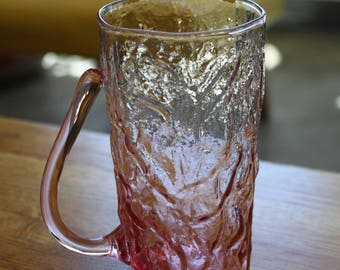 Pink Crinkle Glass Mug