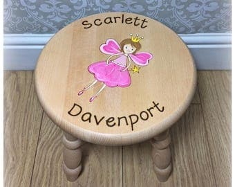 Fairy Princess Personalised Stool