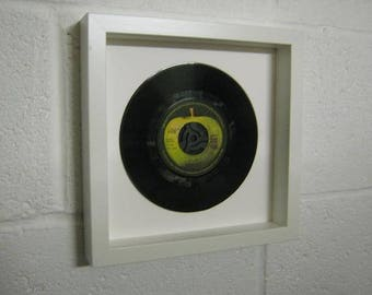 """The Beatles """"Hey Jude"""" Special Unique Wall Framed 7"""" Vinyl Record Gift/Present"""