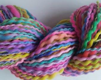 ALDEBARAN skein of yarn spun to spinning wheel.