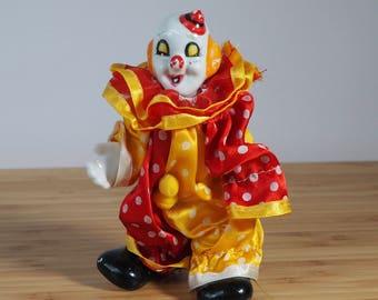 Vintage Clown Doll  Retro Boho Clown Figures Old Dolls Vintage Dolls