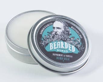 Peppermint and Vanilla Beard and Moustache Balm