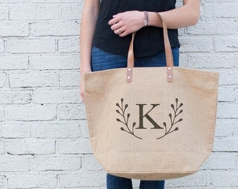 Burlap Bridesmaids Bag | Personalized Bridesmaid Gift | Rustic Bridesmaid Tote | Bridal Party Totes | Personalized gift | Burlap Tote Bag