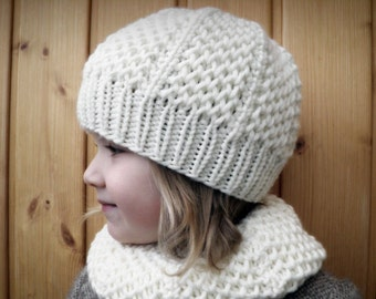 HONEYCOMB SET Hat and Cowl PDF Pattern (toddler, child, adult size)