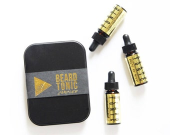BEARD TONIC SAMPLER // Trial Sizes // Gift for Him // Natural Beard Oil