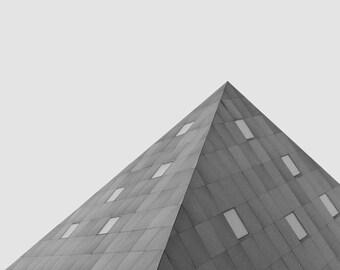 Modern architecture photo | minimalist printable | Contemporary Jewish Museum San Francisco | geometric triangle art print | office decor