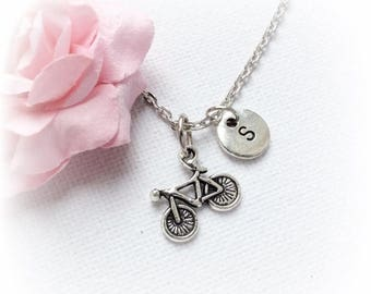 VACATION SALE Bicycle Necklace, bike necklace, bicycle Jewellery, bicycle Charm Jewelry,Personalised jewelry,initial necklace,handmade neckl