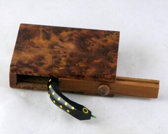 Thuya Burl Snake Gag Box