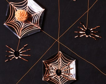 Spider Web Plate, Halloween Party Plates, Paper Plate, Halloween Decor, Halloween Party, Cobweb, Itsy Bitsy Spider, Halloween Party Supplies