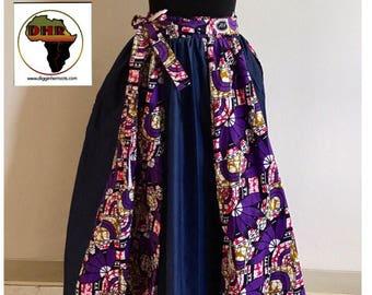 African Skirt, Maxi Skirt, Long African Skirt