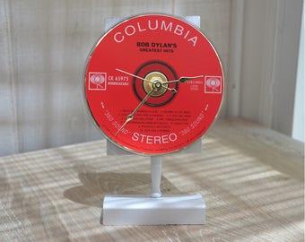 "CD Clock: BOB DYLAN ""Greatest Hits"" Desk or Wall Clock"