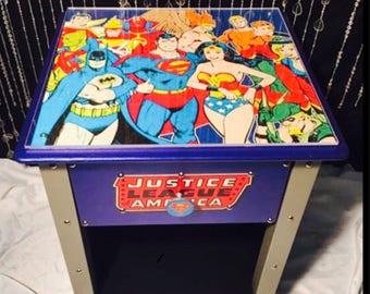 Justice league - justice league decor - super hero decor  - kids furniture - spiderman - batman decor - batman gifts  - boys room decor
