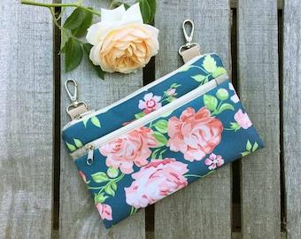 Waterproof Floral Fanny Pack, Roses Waterproof Crossbody Bag, Mini Festival Bag, Boho Utility Bag, Hip Bum Bag, Vegan Belly Bag, Gift idea