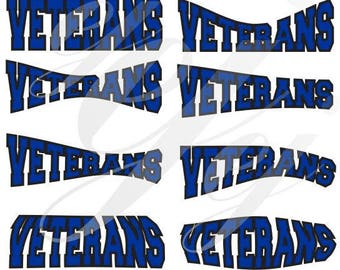 Veterans High School Bonaire Ga Curved Layouts SVG EPS DXF Digital Cutting Design- Instant Download-  jpg pdf Vector File Graphic Design