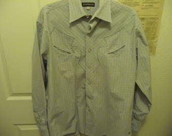 Vintage Stetson Western Pearl snap Rockabilly Mens L/S Shirt very nice  L/S M