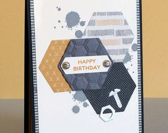 Handmade Masculine Birthday Card