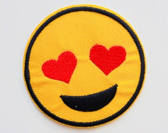 Emoji | Love | Hearts | Cute | Patches | Patch | Hipster | Trendy | Emo | DIY | Fashion | Cute | Retro