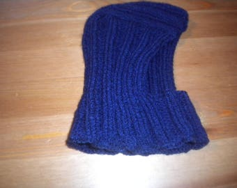 Hat 100% hand knit tweed baby