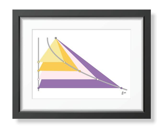Parabola 02 [mathematical abstract art print, unframed] A4/A3 sizes