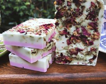 Rose Shea Butter Bar Soap