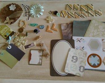 Scrapbook Kit, Junk Journal, Inspiration Kit, 50 Pieces, DIY Journal, Smash Book