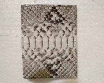 Handmade Python Snakeskin Leather Wallet. MEN'S BIFOLD WALLET. Natural Python Snakeskin Wallet. Free Shipping #002