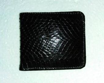 Snakeskin Leather Wallets For Men Snake Skin Wallet Black